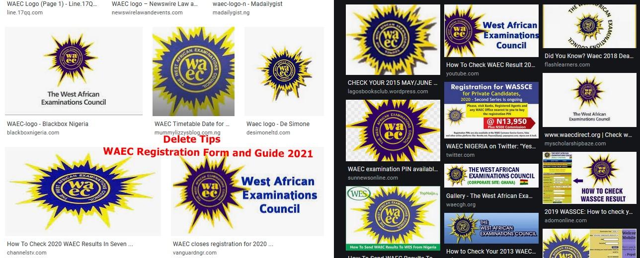 WAEC Registration Form and Guide 2021