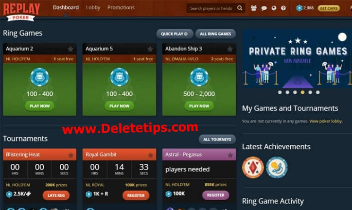 How to Delete Replay Poker Account - Deactivate Replay Poker Account