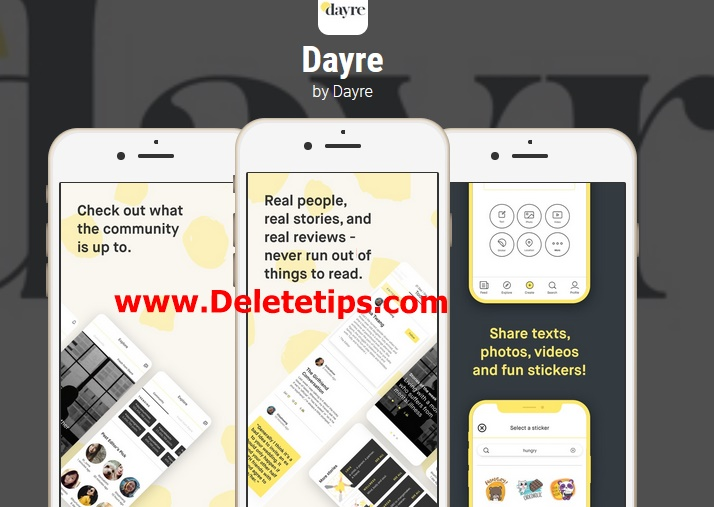 How to Delete Dayre Account - Deactivate Dayre Account.